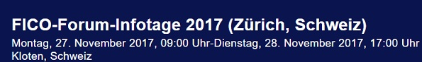 FICO Forum Infotage 2016